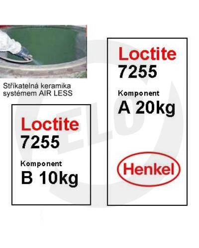 Loctite 7255 stříkatelná keramika komp. B - 10 kg