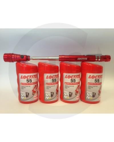 Loctite 55 těsnící vlákno - 160 m PROMO 4x160M + LED BATERKA