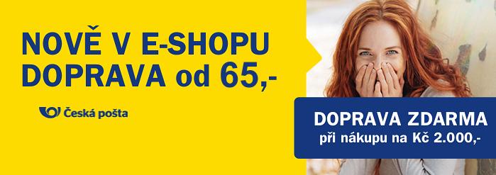 DOPRAVA z e-shopu elotechnik.cz od Kč 55,-